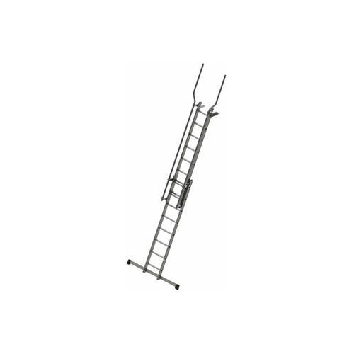 A. Stufenaufstieg mit Ausstiegsholmen und Befestigungsplatten