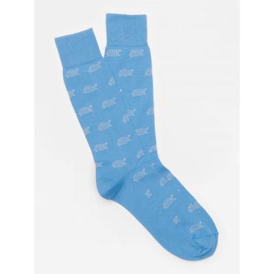 J.McLaughlin Men's Turtle Socks Blue