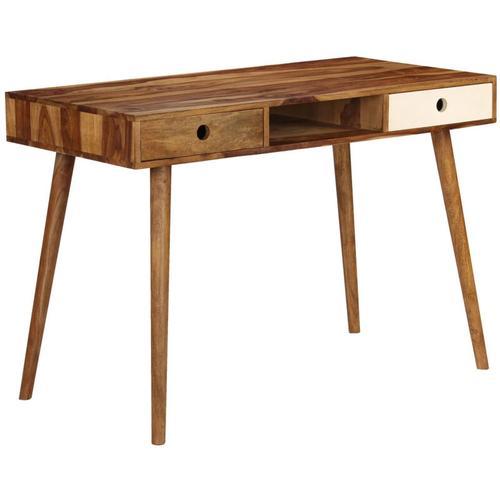 Schreibtisch 110 X 55 X 76 Cm Massivholz