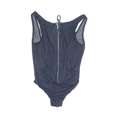 Feathers Bodysuit: Blue Clothing...