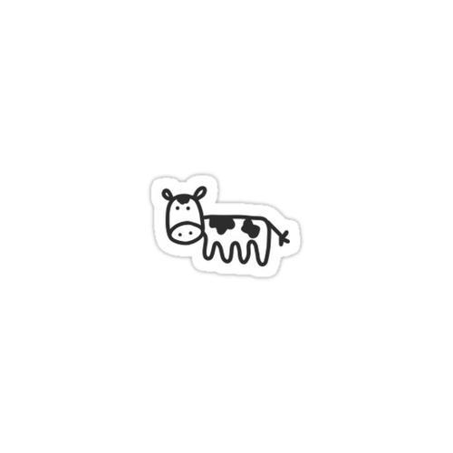 Mini Cow Sticker