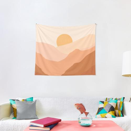 Warm Sunset Wall Tapestry