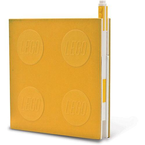 Notizheft LEGO, verschließbar, inkl. Gelstift, gelb