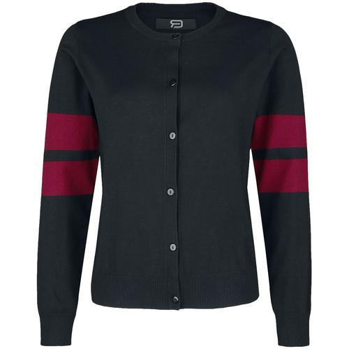 RED by EMP Cardigan im College-Look Damen-Cardigan - schwarz rot