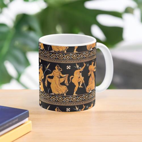 Bacchanalia Greek Vase Attic Red figure Mug