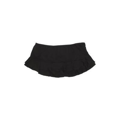 Mossimo Swimsuit Bottoms: Black Solid Swimwear - Size 2 Plus