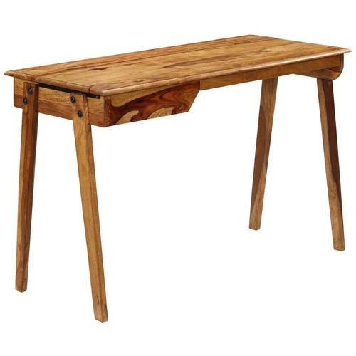 Schreibtisch 118 x 50 x 76 cm Sheeshamholz Massiv VD12164 - Hommoo