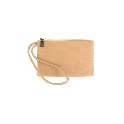 Wristlet: Tan Solid Bags