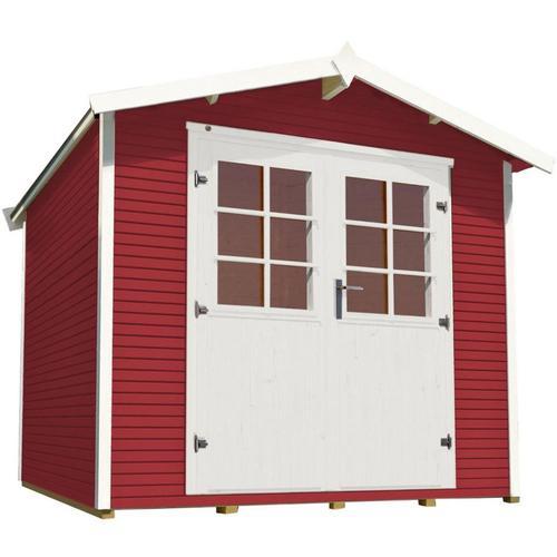 weka Gerätehaus 218 schwedenrot Geräteschuppen, 301x295 cm