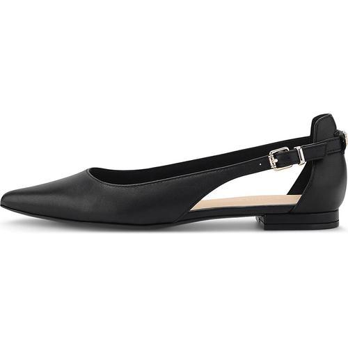 Tommy Hilfiger, Leder-Ballerina in schwarz, Ballerinas für Damen Gr. 38