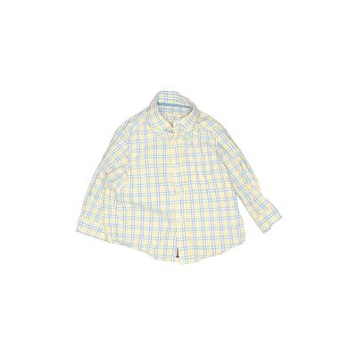 The Children's Place - The Children's Place Long Sleeve Button Down Shirt: Yellow Plaid Tops - Size 18 Month