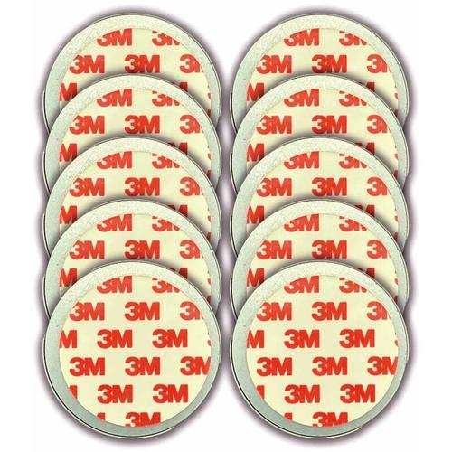 10er Set Magnethalter für Rauchmelder - CO Melder selbstklebend, (Magnetbefestigung Wand- und