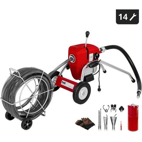 Rohrreinigungsmaschine Rohrreinigungsgerät Rohrreiniger Spirale 700 U Min 1100 W