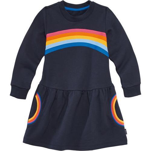 Kleid Regenbogen, blau, Gr. 92/98