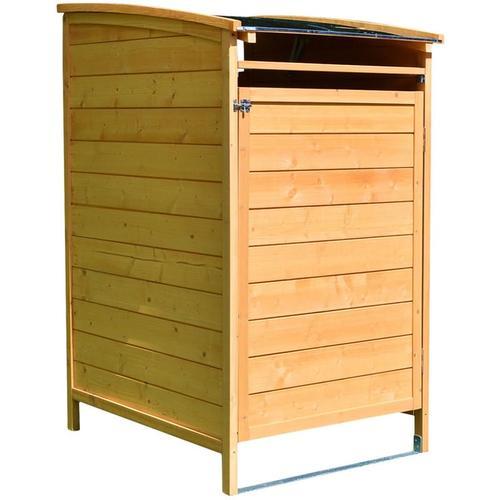 Mülltonnenbox braun Mülltonnenverkleidung Mülltonne 240L Mülltonnenhaus Gartenbox Gerätebox