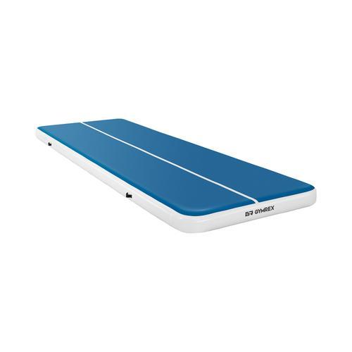 Gymrex Aufblasbare Turnmatte - Airtrack - 600 x 200 x 20 cm - 400 kg - blau/weiß GR-ATM9