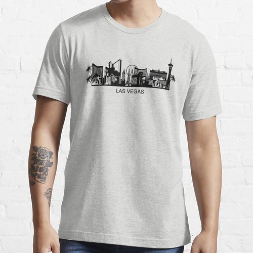 Las Vegas Cityline Kunst Essential T-Shirt