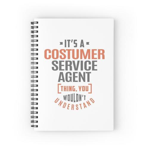 Kundendienst-Agent Spiralblöcke