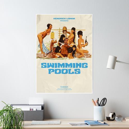 Schwimmbecken Poster