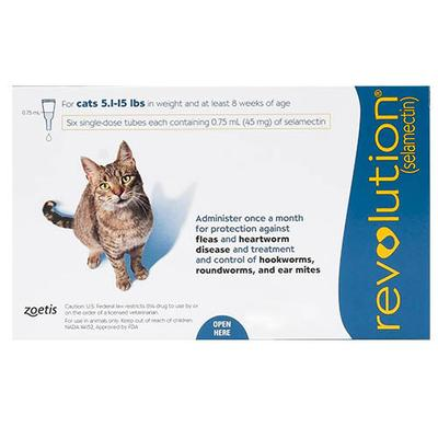 Revolution (Blue) for Cats - 5 -15lbs 3 Doses