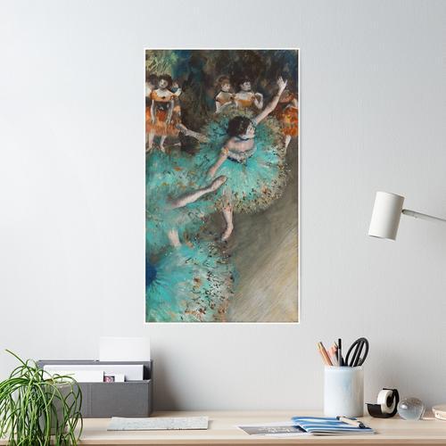 Degas - The Green Dancer Poster