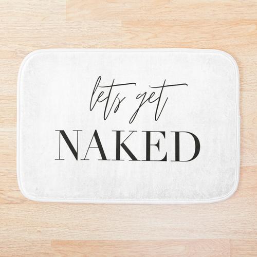 Lets get naked, Badezimmer, Spass, Badezimmer Deko, Badezimmer Duschvorhang, Badezimmer Te Badematte