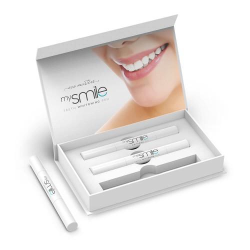 Mysmile Stift zur Zahnaufhellung - 3 Stifte x 2ml - Natürliche Zahnaufhellung to go