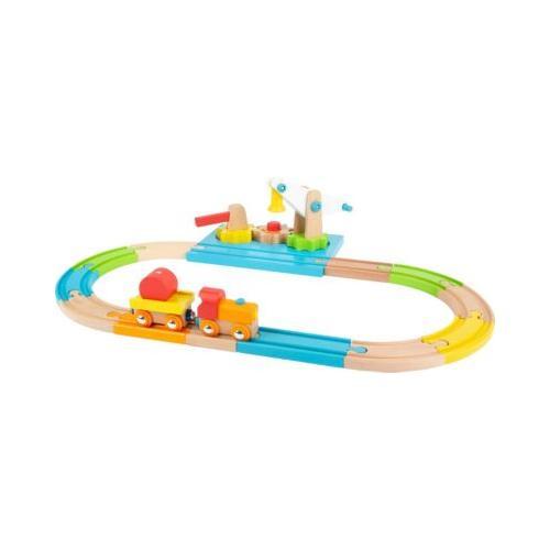 Holzeisenbahn Junior Kran bunt
