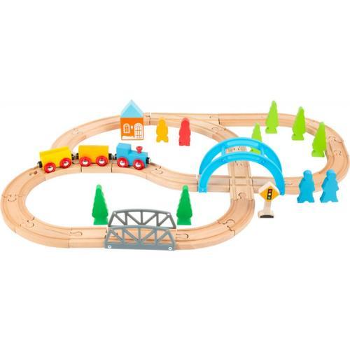 Holzeisenbahn Große Reise bunt