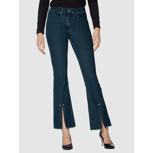 AMY VERMONT, Jeans mit Schlitz am Saum, blau