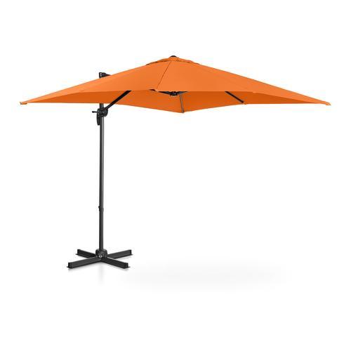 Uniprodo Ampelschirm - orange - viereckig - 250 x 250 cm - drehbar