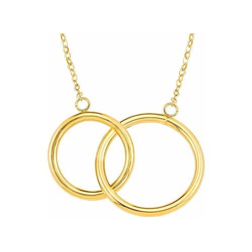 Kette mit Anhänger für Damen, Gold 375, Kreis amor Gold