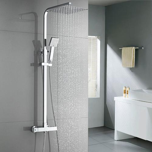 Regendusche mit Thermostat Duscharmaturen Set Duschset Brausethermostat Duschsystem Duscharmatur