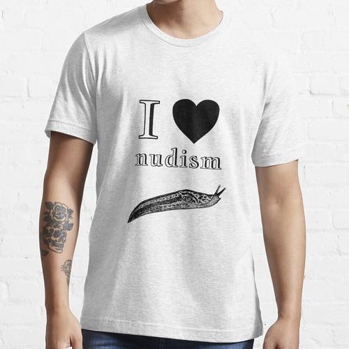 Ich liebe Nudismus Essential T-Shirt