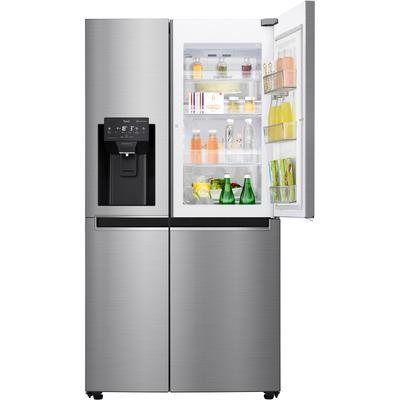 LG Side-by-Side, GSJ461DIDV, 179 cm hoch, 91,2 breit, Door-in-Door F (A bis G) TOPSELLER grau Side-by-Side Kühlschränke SOFORT LIEFERBARE Haushaltsgeräte