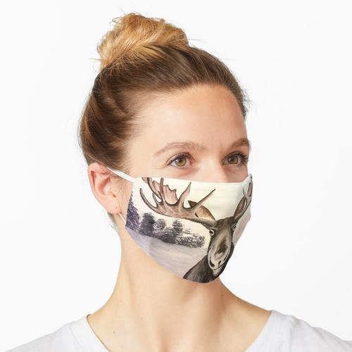 Grinsender Elch Maske