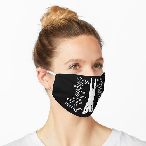 Spiegelndes Physik-Logo - Weiß Maske