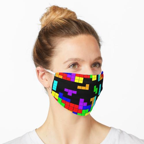 Tetris lässt Tetris fallen Maske