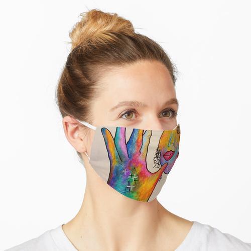 geschlossene Lippe Maske