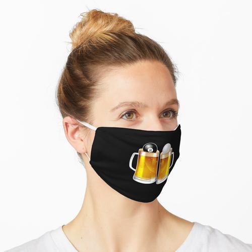 Billardpool - Bier 8 Ball Maske