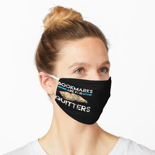 Lustige Lesezeichen sind für den beunruhigten Drücker-Leser Maske