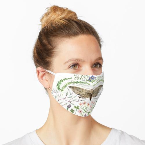 Motte mit Pflanzen II Maske