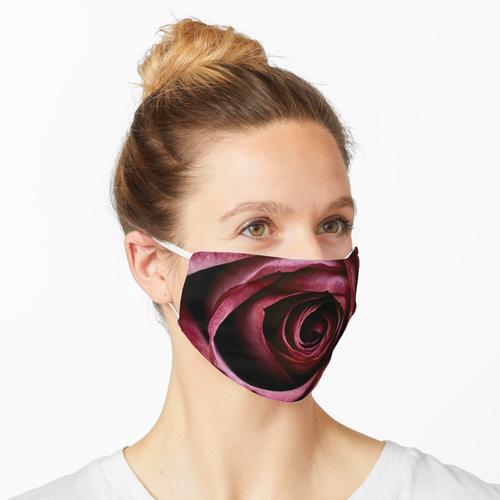 Dunkelrote Rose Maske