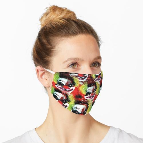 Halloween Horrorclown Collage Maske