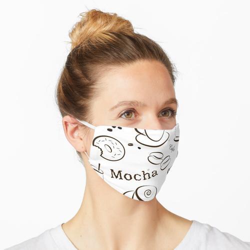 Kaffee Hintergrundmuster Maske