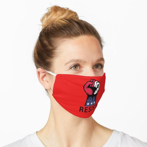 Der Widerstand Rot Weiß und Blau Protest Widerstand Faust Maske