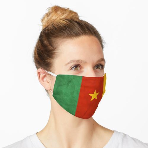 Kamerun   Kameruner Flagge   Nationalflagge von Kamerun Maske
