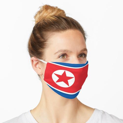 Nordkoreanische Flagge, DVRK Maske