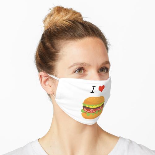 I love Burger | I heart Burger | Ich liebe Burger Maske