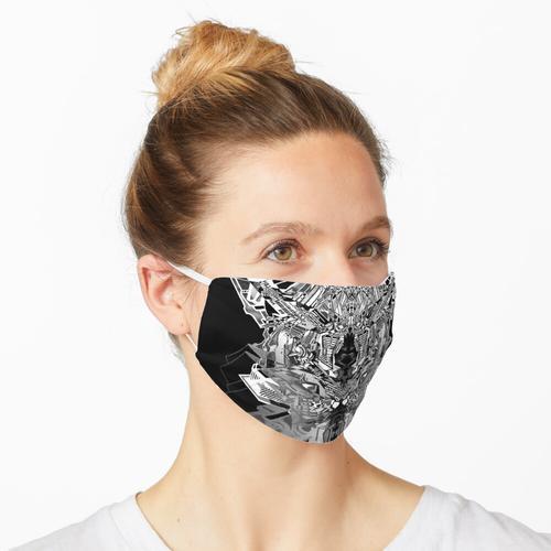 Dunkle Kronleuchter Maske